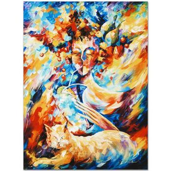 """Leonid Afremov """"Night Cap"""" Limited Edition Giclee on Gallery Wrapped Canvas, Numbered and Signed; COA."""