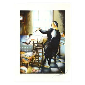 """Raymond Poulet, """"Spinning"""" Limited Edition Lithograph, Numbered and Hand Signed."""