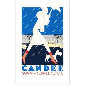 """""""Candee"""" Hand Pulled Lithograph by the RE Society, Image Originally by Eduardo Garcia Benito with Certificate."""