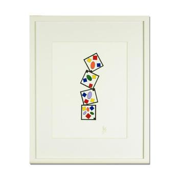 "George Marlowe ""Patterns, Series I-10"" Framed, Hand Signed Original Painting; COA"