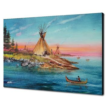 """Martin Katon, """"Tipi Territory"""" Ltd Ed Giclee on Gallery Wrapped Canvas, Numbered and Hand Signed with Certificate."""