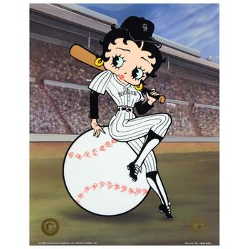 """""""Betty on Deck - Rockies"""" Ltd Ed Sericel from King Features Syndicate, Inc., Numbered with COA."""