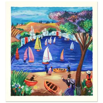 """Shlomo Alter, """"Near the Lake"""" Limited Edition Serigraph, Numbered and Hand Signed with Certificate."""