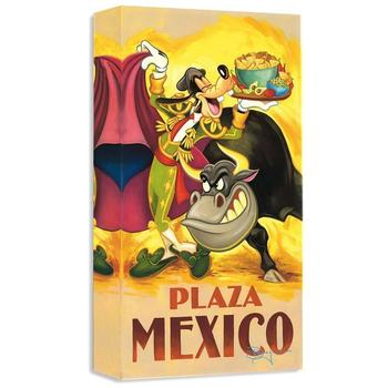 """""""Goofy's Plaza Mexico"""" Limited edition gallery wrapped canvas by Tim Rogerson from the Disney Treasures collection."""