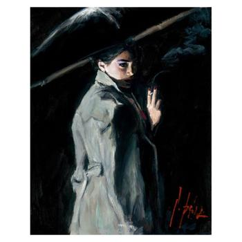 """Fabian Perez """"Fall Night"""" Hand Embellished Limited Edition Canvas; Hand Signed, with COA."""