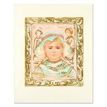 """Edna Hibel (1917-2014), """"Martha"""" Limited Edition Lithograph, Numbered and Hand Signed with Certificate of Authenticity."""