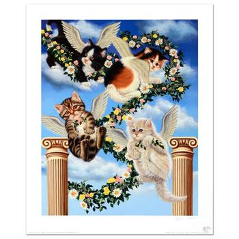 """Barbara Higgins-Bond, """"Heaven Sent"""" Limited Edition Lithograph. Numbered and Hand Signed by the Artist."""
