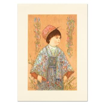 """Edna Hibel (1917-2014), """"Festival Day"""" Ltd Ed Lithograph, Numbered and Hand Signed with Certificate of Authenticity."""