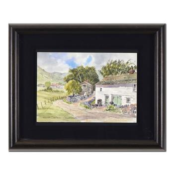 """Martin Goode (1932-2002), """"Patterdale, Cumbria"""" Framed Original Watercolor Painting, Hand Signed with Certificate."""