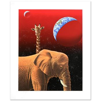 """William Schimmel, """"Our Home Too I - Elephants"""" Ltd Ed Serigraph, Numbered and Hand Signed with Certificate."""