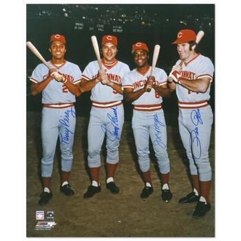 """The Big Four"" Photograph Autographed by Johnny Bench, Tony Perez, Joe Morgan, Joe Morgan & Pete Rose."