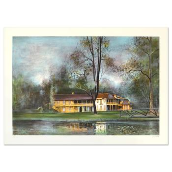 """Antonio Rivera, """"Hameau de la Reine"""" Limited Edition Lithograph, Numbered and Hand Signed."""