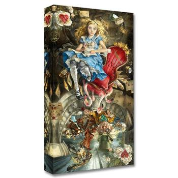 """""""We're All Mad Here"""" Limited edition gallery wrapped canvas by Heather Theurer from the Disney Treasures collection with COA."""