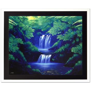 """Jon Rattenbury, """"Crystal Pools"""" Ltd Ed Giclee on Canvas, Numbered and Hand Signed with Certificate."""