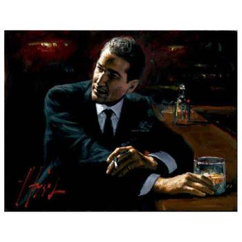 """Fabian Perez """"Proud To Be Man II"""" Hand Embellished Limited Edition Canvas; Hand Signed, with COA."""