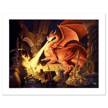 """Brothers Hildebrandt, """"Smaug"""" Limited Edition Giclee on Canvas, Numbered and Hand Signed with Certificate."""