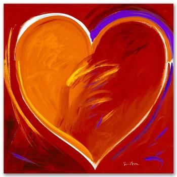 """Simon Bull, """"Deep In My Heart"""" Gallery Wrapped Ltd Ed Giclee on Canvas, Numbered and Signed with Certificate."""