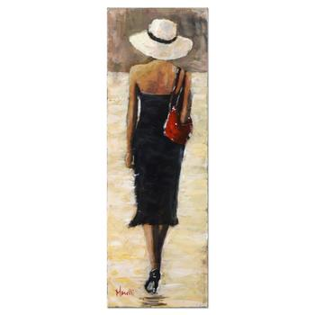"""Michael Maselli, """"Out on the Town"""" Original Oil Painting on Canvas, Hand Signed with Certificate of Authenticity."""