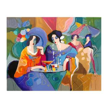 """Isaac Maimon, """"Cafe Array"""" Limited Edition Serigraph, Numbered and Hand Signed with Letter of Authenticity."""