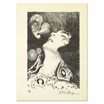 """Paul Blaine Henrie (1932-1999), """"Elvis (Looking Up)"""" Ltd Ed Lithograph from a PP Ed and Hand Signed w/COA. (Disclaimer)"""