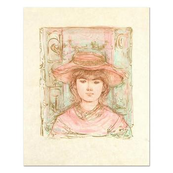 """Edna Hibel (1917-2014), """"January"""" Ltd Ed Lithograph on Rice Paper, Numbered 2/15 and Hand Signed with Certificate."""