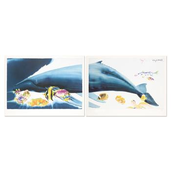I Want To Dive Into Your Ocean (Diptych) Ltd Ed Lithograph by Wyland & Tracey Taylor, No. with COA.