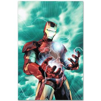 """Marvel, """"Iron Man Legacy #2"""" LTD ED Giclee on Canvas by Brandon Peterson, Numbered & Hand Signed with Certificate."""