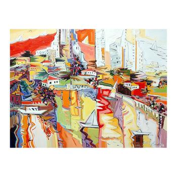 "Natalie Rozenbaum, ""Marina Reflections"" Limited Edition on Canvas, Numbered and Hand Signed with Letter of Authenticity."