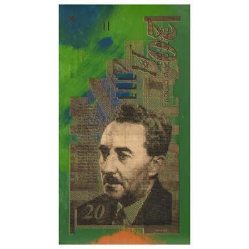 "Steve Kaufman (1960-2010), ""Israel Money"" Hand Embellished Ltd Ed on Canvas, Numbered 3/50 and Hand Signed w/COA."