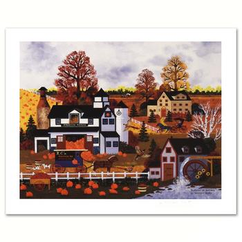 "Jane Wooster Scott, ""Textures of Autumn"" Ltd Ed Lithograph, Numbered and Hand Signed with Certificate."