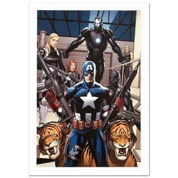 "Marvel, ""Ultimate New Ultimates #3"" Ltd Ed Giclee on Canvas by Frank Cho, Numbered & Hand Signed by Stan Lee w/Cert."