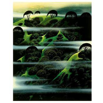 "Eyvind Earle (1916-2000), ""Early Morning Fog"" Limited Edition Serigraph on Paper; Numbered & Hand-Signed; COA."