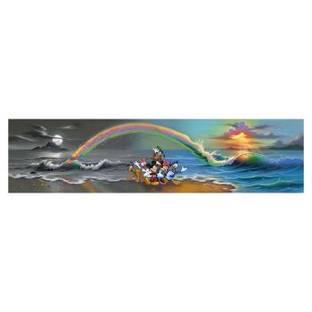 "Jim Warren ""Walt's Wonderful World of Color"" Disney Premier Limited Edition Artist Embellished Giclee on Canvas; Hand Signed; CO"