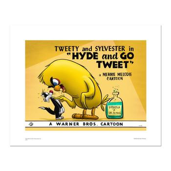 """Hyde and Go Tweet- color"" Numbered Limited Edition Giclee from Warner Bros. with Certificate of Authenticity."