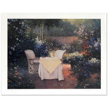"Sergon, ""Garden Pleasures"" Limited Edition Giclee, Numbered and Hand Signed by the Artist."