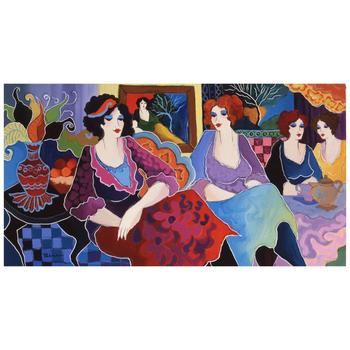 "Patricia Govezensky, ""Cafe Laguna"" Hand Signed Limited Edition Giclee on Canvas with Letter of Authenticity."