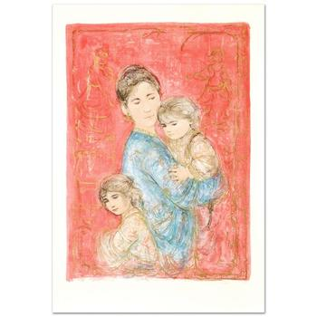 "Edna Hibel (1917-2014), ""Sonya and Family"" Limited Edition Lithograph, Numbered and Hand Signed with Certificate."