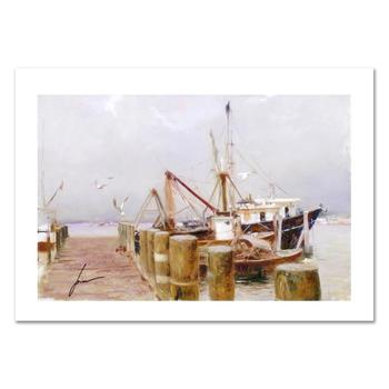 """Pino (1939-2010) """"Safe Harbor"""" Limited Edition Giclee. Numbered and Hand Signed; Certificate of Authenticity."""