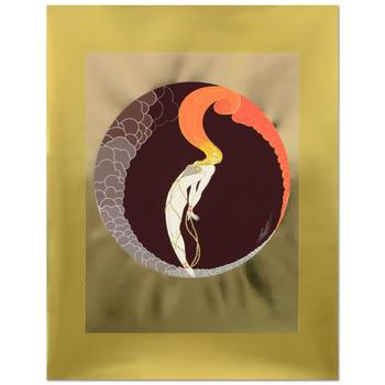 "Erte (1892-1990), ""L'Amour"" Limited Edition Serigraph, Numbered and Hand Signed with Certificate."