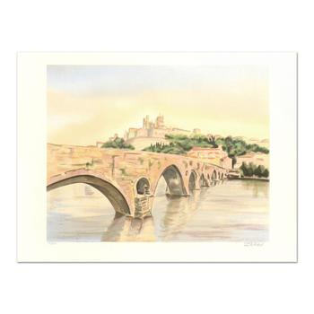 """Victor Zarou, """"Avignon"""" Limited Edition Lithograph, Numbered and Hand Signed."""