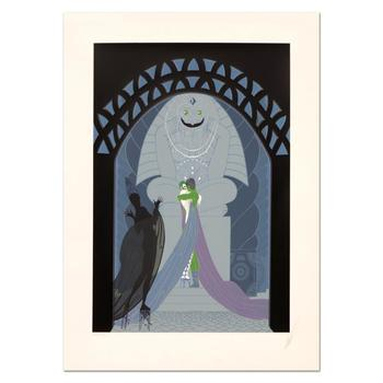 "Erte (1892-1990), ""Lovers and Idol"" Limited Edition Serigraph, Numbered and Hand Signed with Certificate."