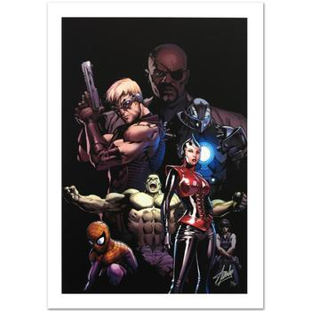 "Marvel, ""Ultimate Avengers #3"" Ltd Ed Giclee on Canvas by Carlos Pacheco, Numbered and Hand Signed by Stan Lee w/Cert."