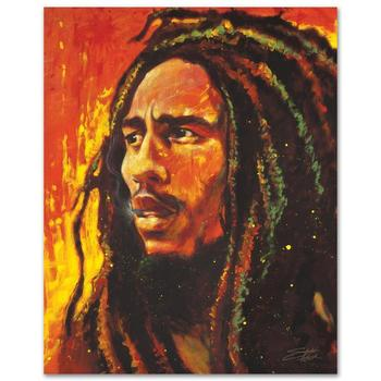 "Stephen Fishwick, ""Bob Marley"" LIMITED ED Giclee on Canvas, Numbered and Signed with Certificate of Authenticity."