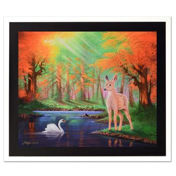 "Jon Rattenbury, ""When We First Met"" Ltd Ed Giclee on Canvas, Numbered and Hand Signed with Certificate."