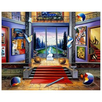 "Alexander Astahov, ""Red Carpet"" Hand Signed Limited Edition Giclee on Canvas with Letter of Authenticity."