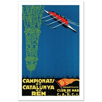 """Campionats de Catalunya"" Hand Pulled Lithograph by the RE Society, Image Originally by Camiro with Cert."