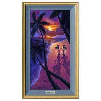 """Sunset Stroll"" Framed Limited Edition Canvas by Tim Rogerson from the Disney Silver Series; with COA"