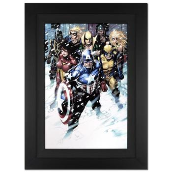 Marvel Comics, Framed Ltd Ed Giclee on Canvas by Jim Cheung, Numbered and Hand Signed by Stan Lee w/Certificate.