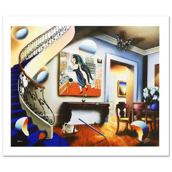 """Ferjo, """"Dining with Chaggall"""" Limited Edition Giclee on Canvas, Numbered and Hand Signed with Certificate."""