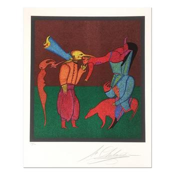 """Mihail Chemiakin - Carnival Series: """"Untitled 2"""" Limited Edition Lithograph, Numbered Hand Signed with Certificate."""